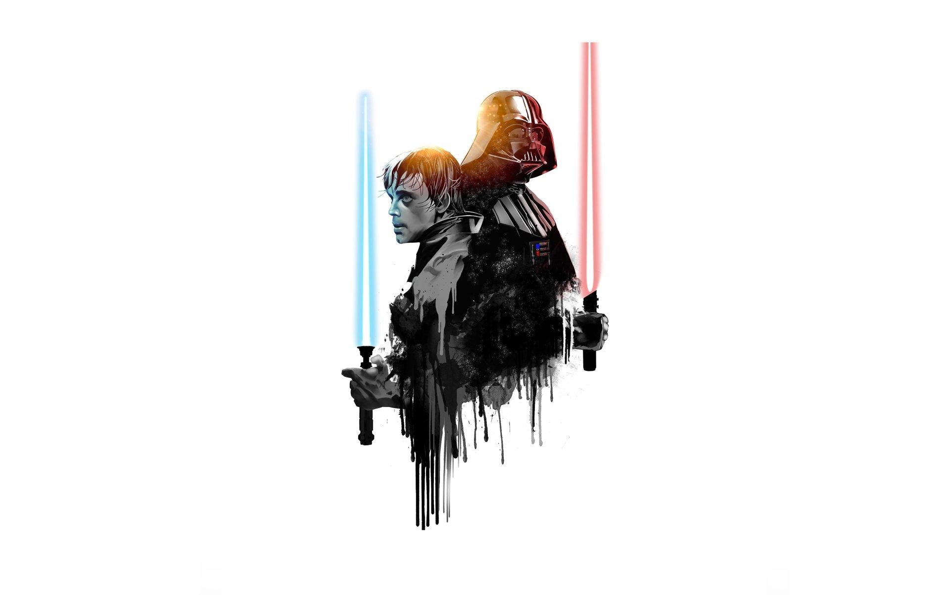 Science Fiction - Star Wars  Minimalist Lightsaber Darth Vader Luke Skywalker Fond d'écran