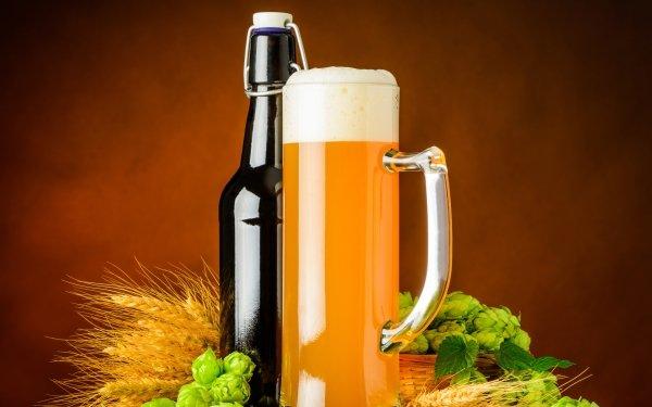 Food Beer Alcohol Drink Bottle Hop Still Life Glass HD Wallpaper | Background Image