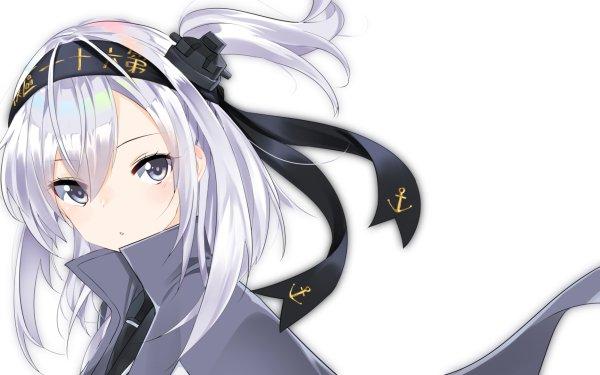 Anime Kantai Collection Suzutsuki White Hair HD Wallpaper   Background Image