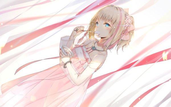 Anime Azur Lane Richmond Girl Dress Blonde Aqua Eyes Short Hair Necklace Blush HD Wallpaper | Background Image
