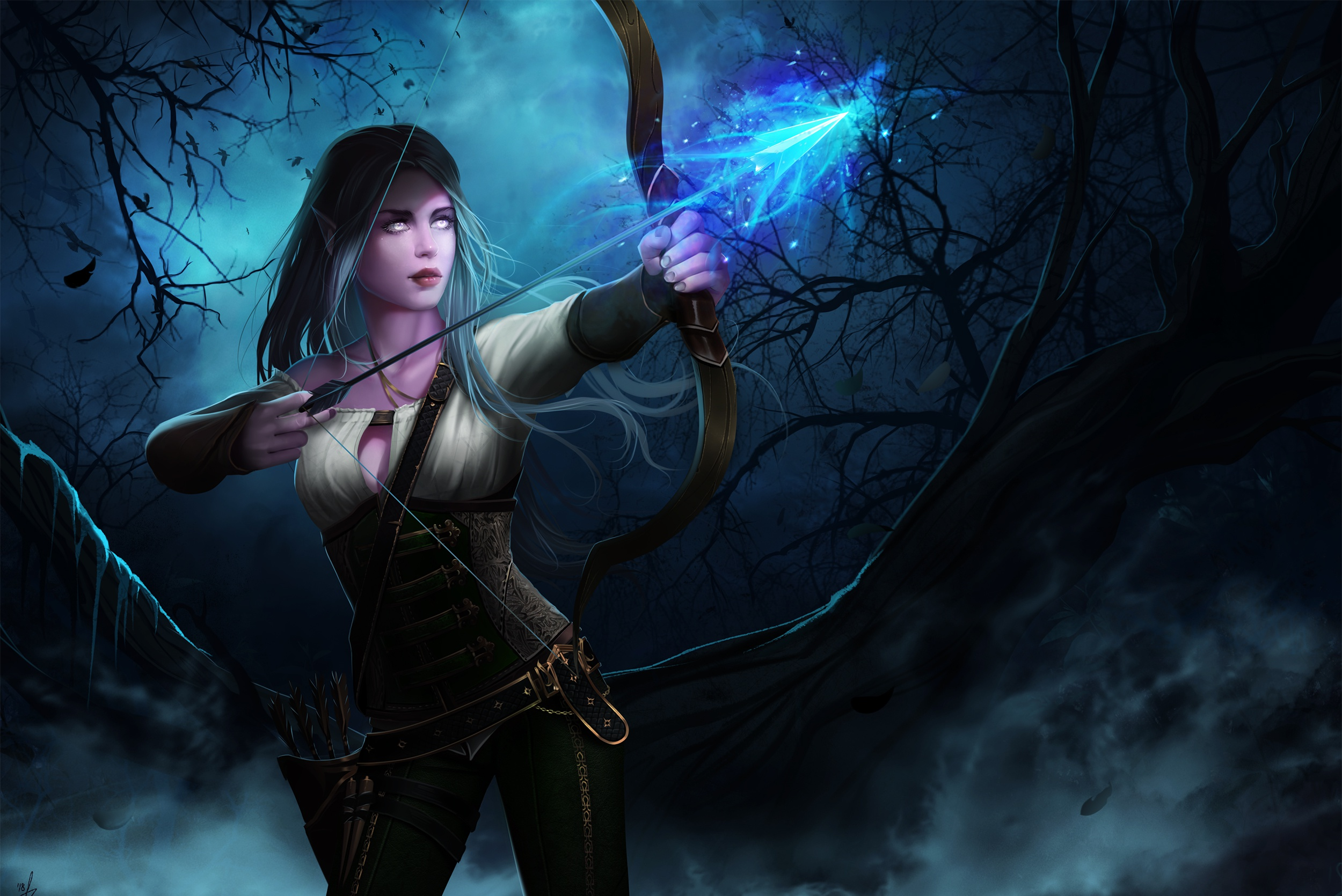 Archer Girl Fantasy 2 4k Hd Desktop Wallpaper For 4k Ultra: World Of Warcraft HD Wallpaper