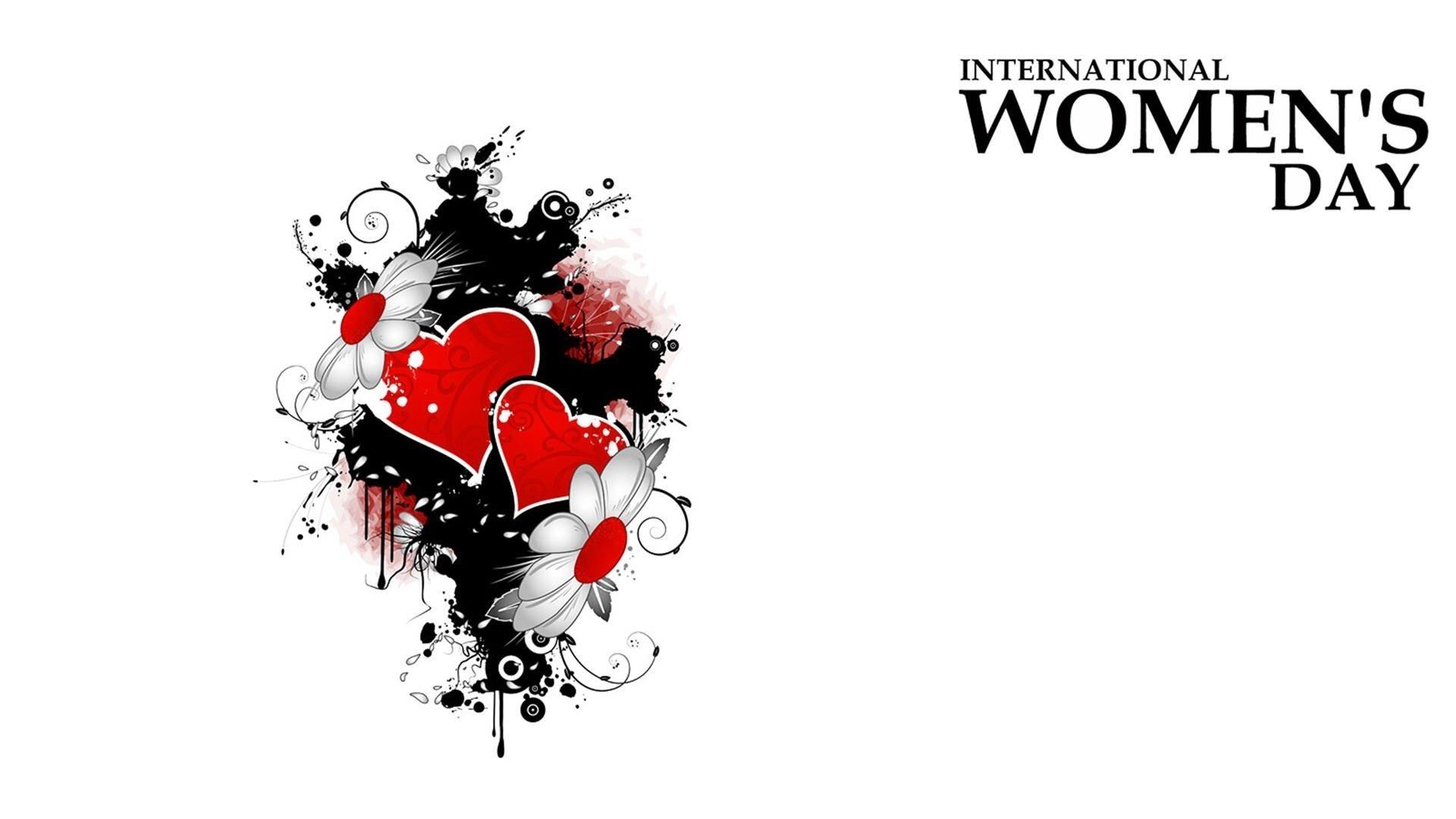 Holiday - Women's Day  Statement Minimalist Daisy Flower Heart Wallpaper