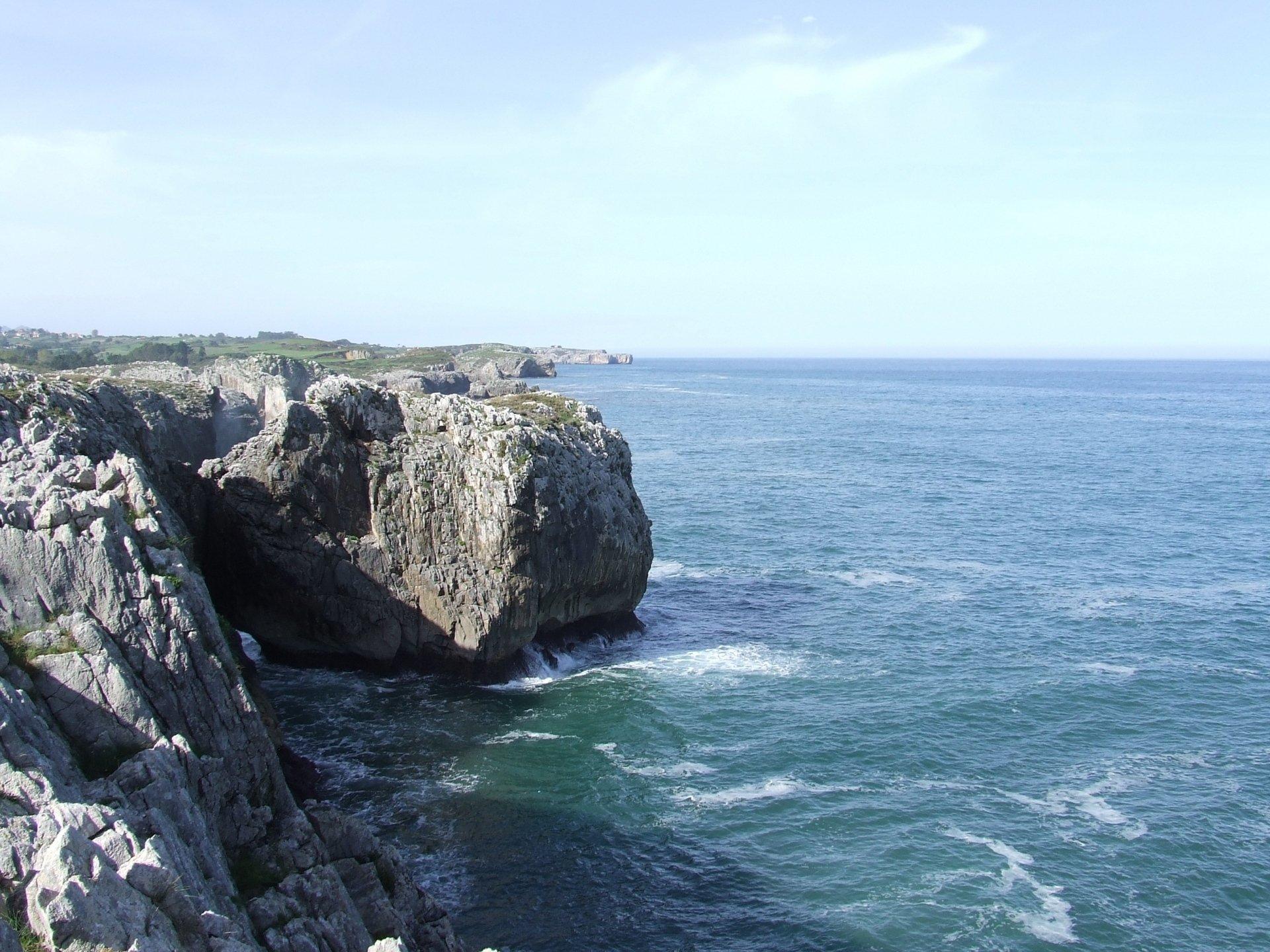 Earth - Cliff  Sea Spain Nature Coast Water Rock Horizon Wallpaper