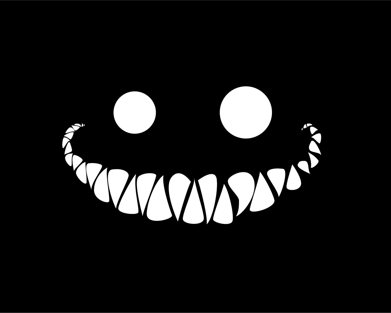 Dark - Artistic  Cheshire Cat Wallpaper