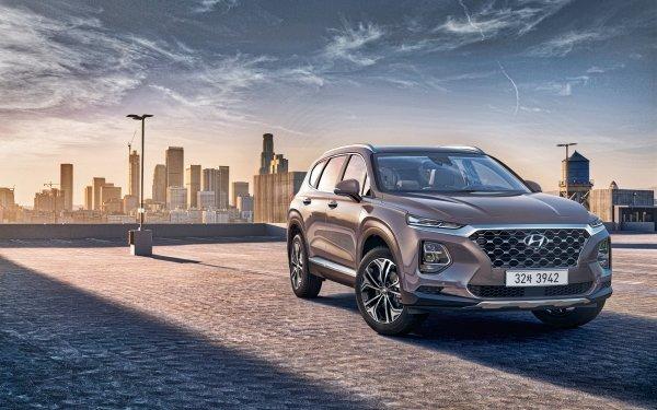 Vehicles Hyundai Santa Fe Hyundai Car SUV Silver Car HD Wallpaper | Background Image