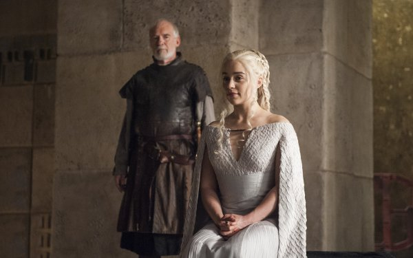 TV Show Game Of Thrones Daenerys Targaryen Barristan Selmy Emilia Clarke Ian McElhinney HD Wallpaper | Background Image