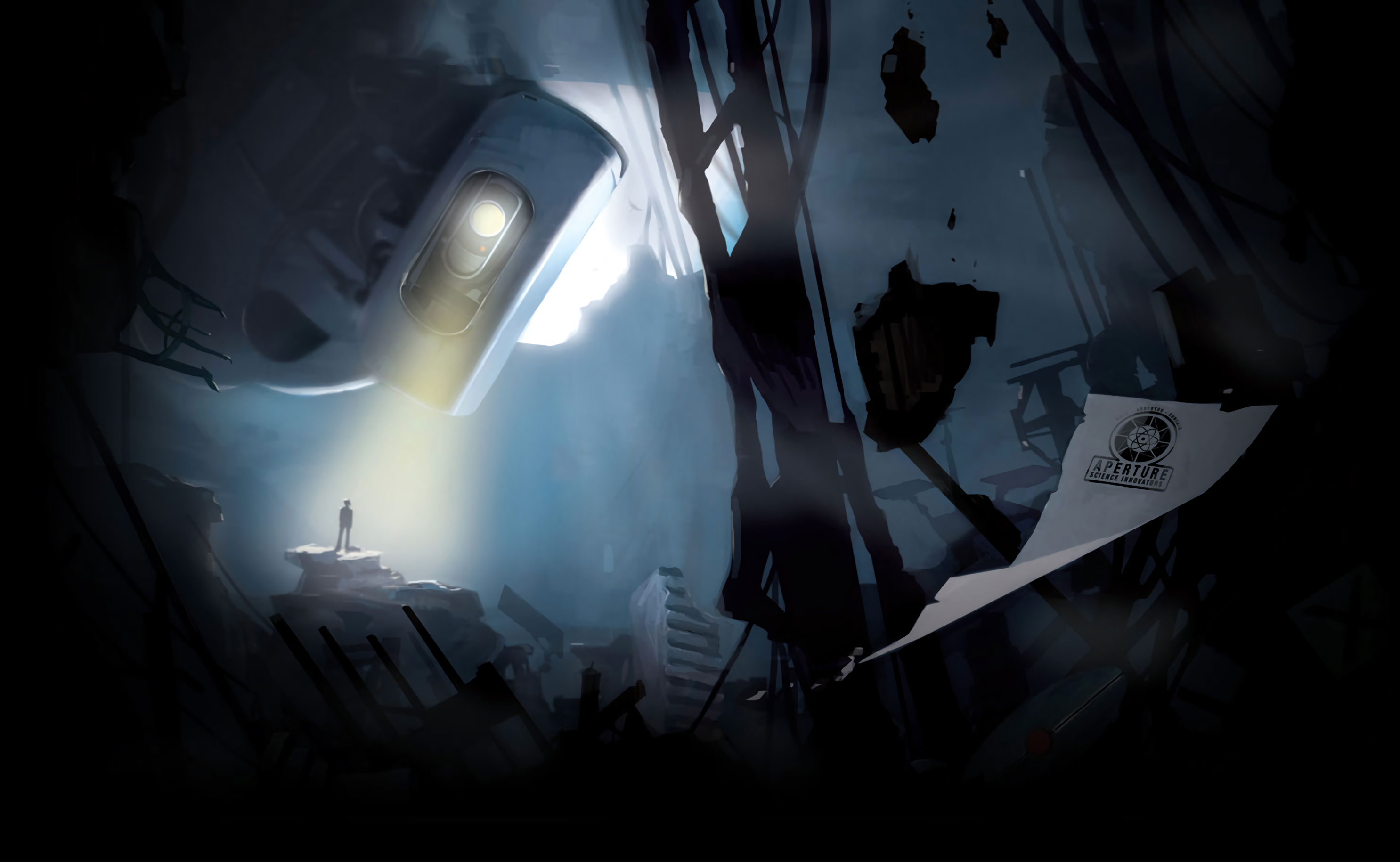 Portal 2 glados full hd wallpaper and background image 2972x1830 video game portal 2 glados portal wallpaper voltagebd Images