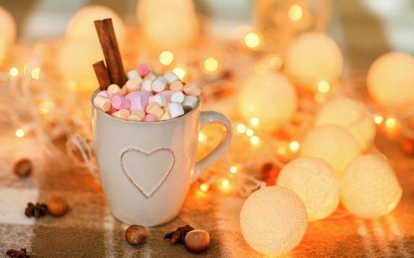 Food Hot Chocolate Marshmallow Cinnamon Drink Mug HD Wallpaper | Background Image