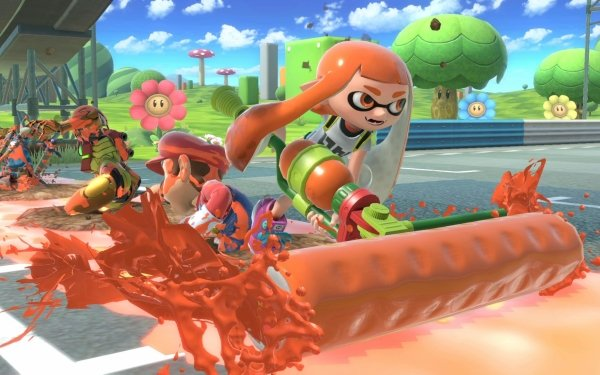 Video Game Super Smash Bros. Ultimate Inkling Mario Samus Aran Link Mario Kart HD Wallpaper   Background Image