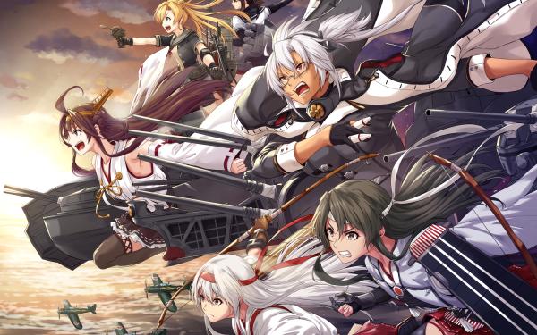 Anime Kantai Collection Abukuma Hatsuzuki Kongou Musashi Shoukaku Zuikaku HD Wallpaper | Background Image