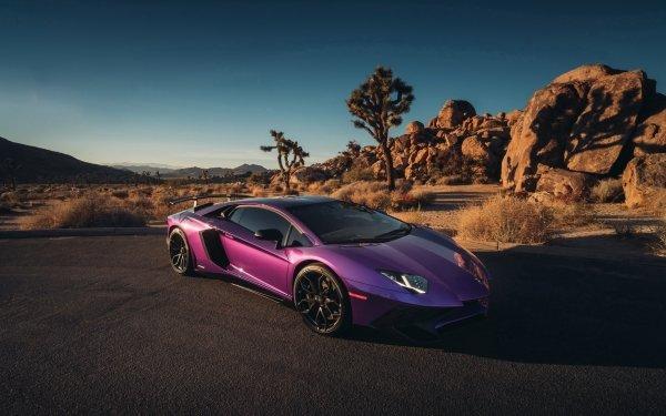 Véhicules Lamborghini Aventador SV Lamborghini Voiture Sport Car Supercar Purple Car Fond d'écran HD | Image