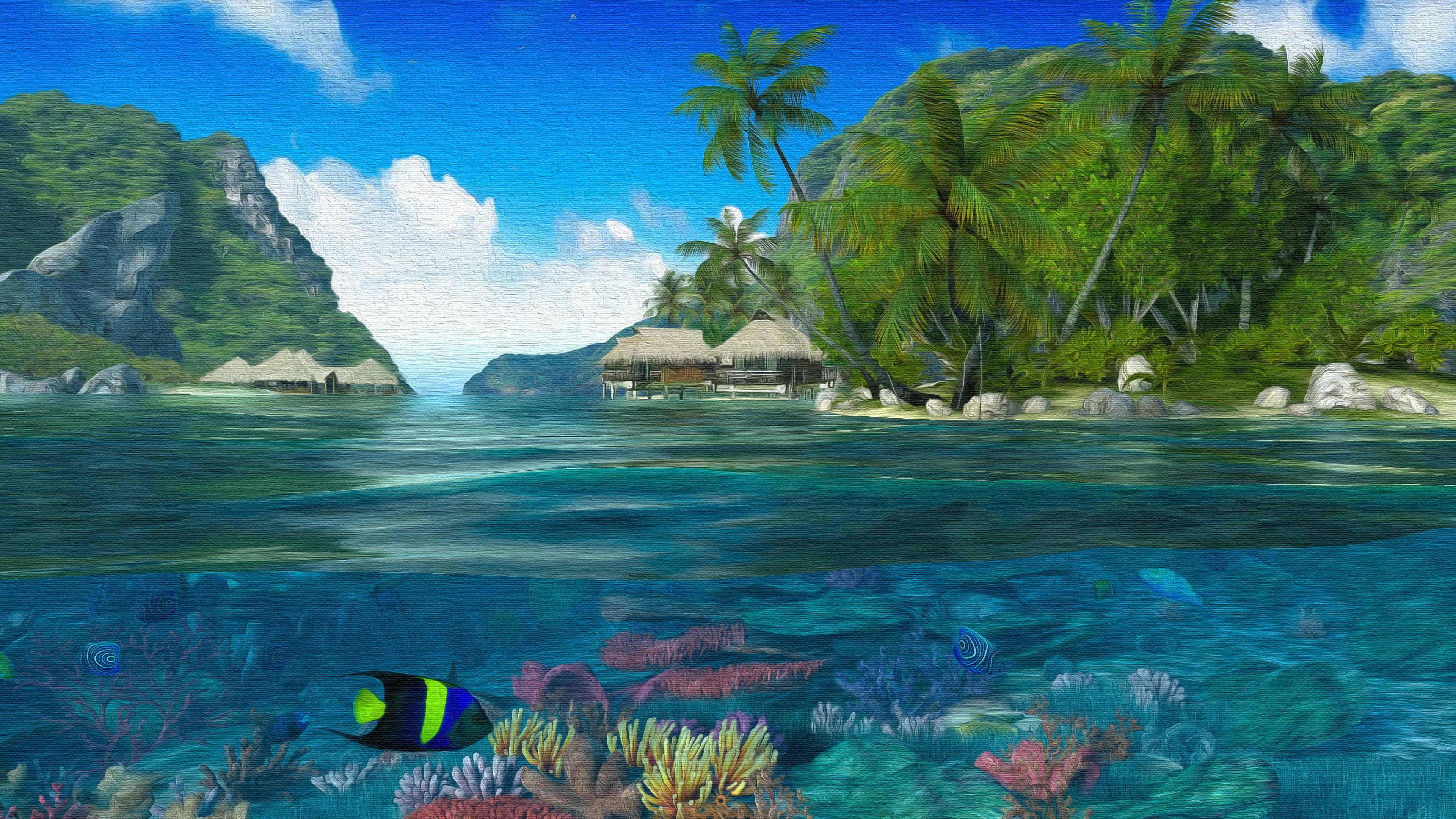 Split View - Oil on Canvas 4k Ultra HD Wallpaper ...