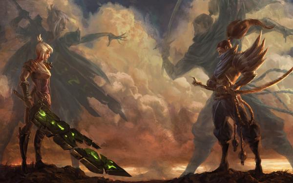 Video Game League Of Legends Riven Yasuo Warrior Samurai Woman Warrior Sword HD Wallpaper   Background Image