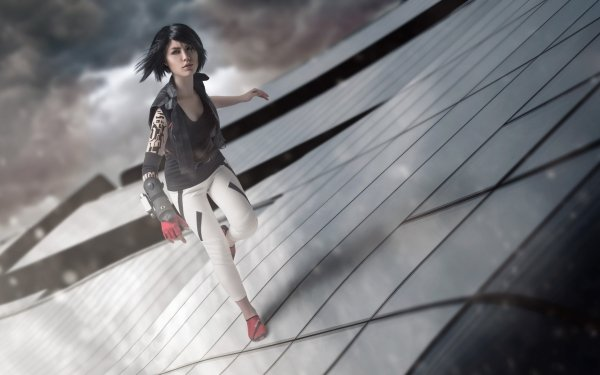 Women Cosplay Mirror's Edge Faith Connors HD Wallpaper | Background Image