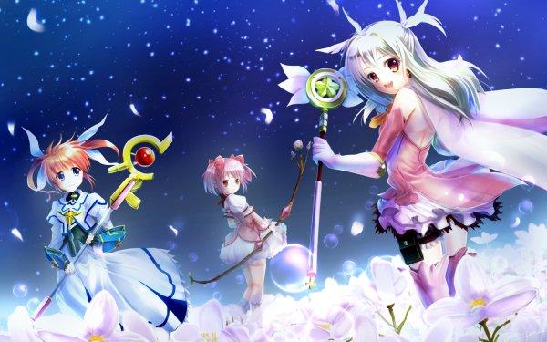 Anime Crossover Fate/kaleid liner Prisma Illya Illyasviel Von Einzbern Puella Magi Madoka Magica Madoka Kaname Magical Girl Lyrical Nanoha Nanoha Takamachi HD Wallpaper | Background Image