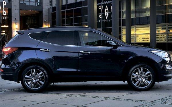 Vehicles Hyundai Santa Fe Hyundai Crossover Car SUV Black Car Car HD Wallpaper | Background Image