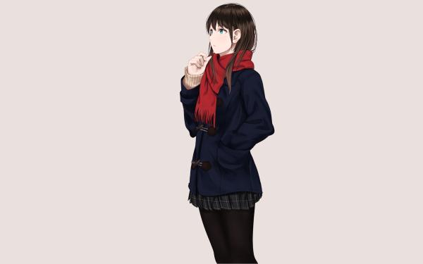 Anime Original Black Hair Blue Eyes HD Wallpaper   Background Image