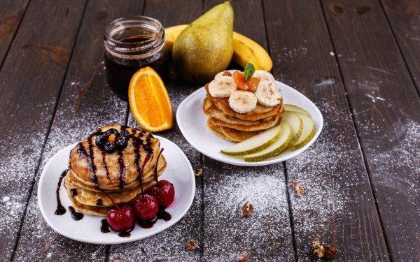 Food Pancake Breakfast Still Life Fruit HD Wallpaper | Background Image