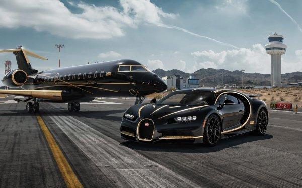 Fahrzeuge Bugatti Chiron Bugatti Autos Black Car Sport Car Supercar HD Wallpaper | Hintergrund