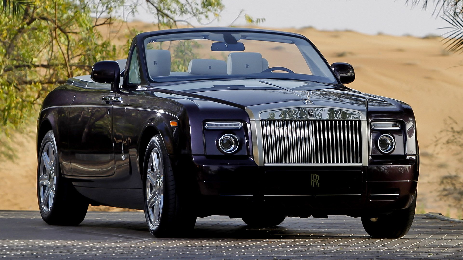 Обои phantom, drophead, Rolls royce. Автомобили foto 12