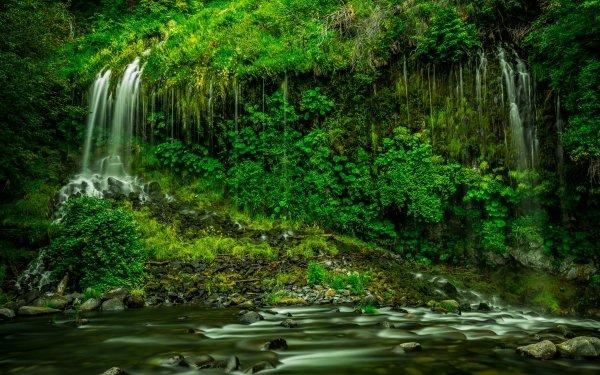Fantaisie Waterfall Terre Greenery Fond d'écran HD | Image