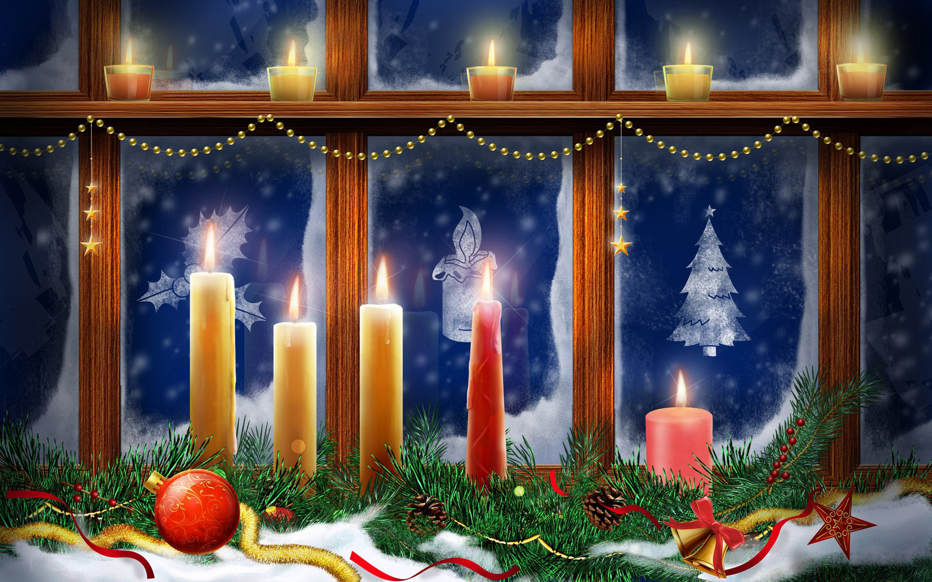 Holiday - Christmas  Christmas Ornaments Candle Wallpaper