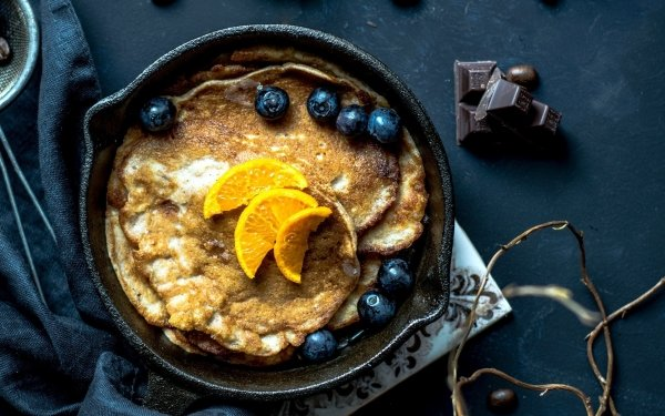 Alimento Desayuno Panqueque Fruta Fondo de pantalla HD | Fondo de Escritorio