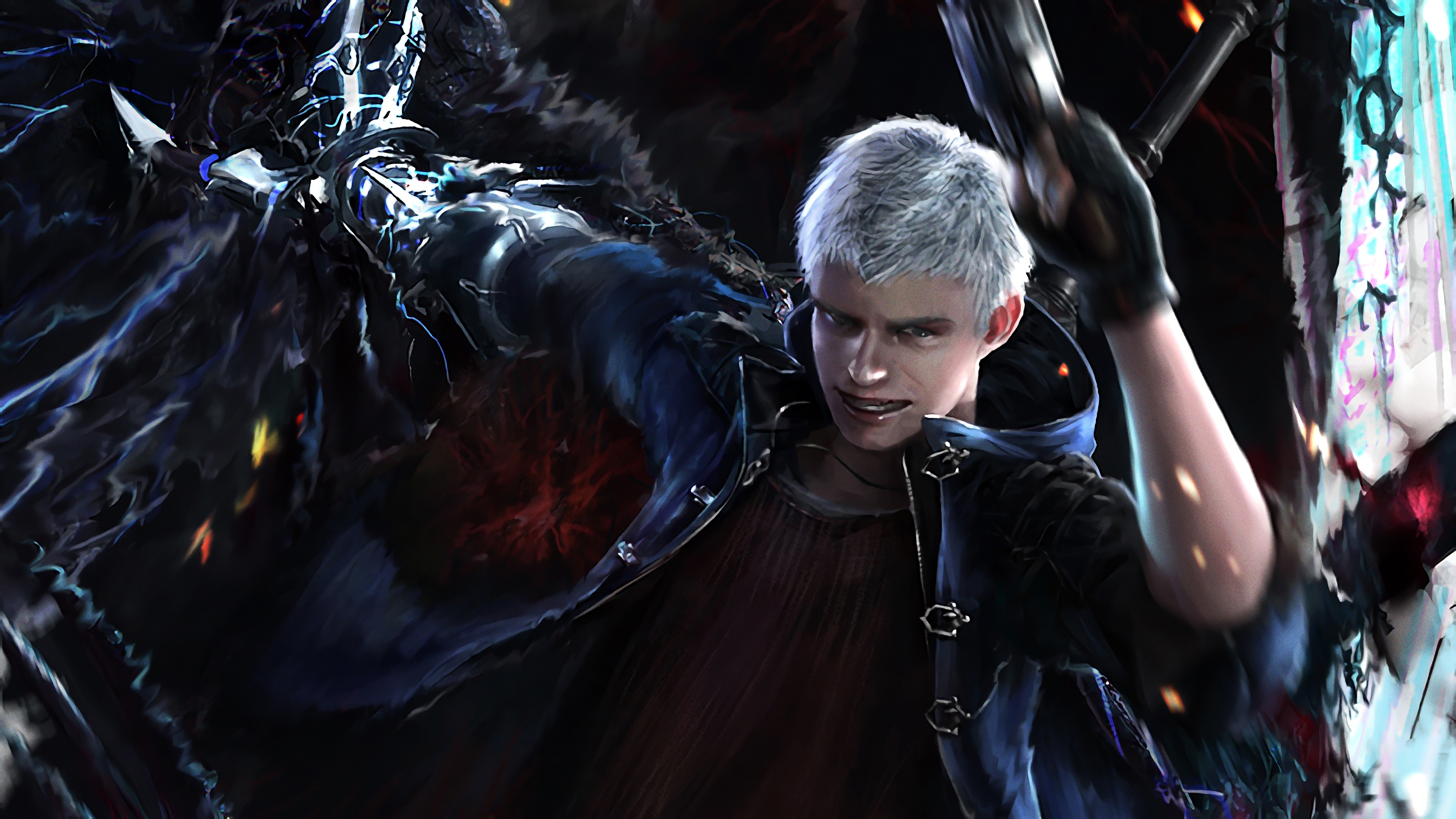 Devil May Cry 5 Nero 4k Ultra Hd Wallpaper Background