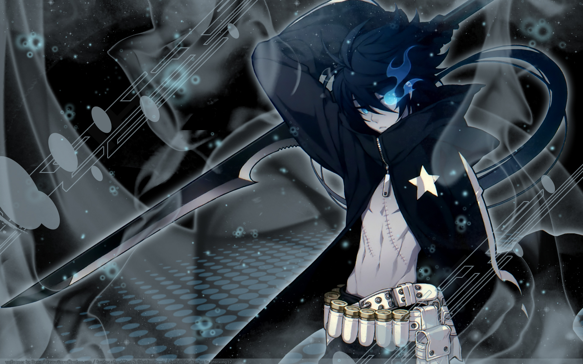Black rock shooter full hd wallpaper and background - Anime male wallpaper hd ...
