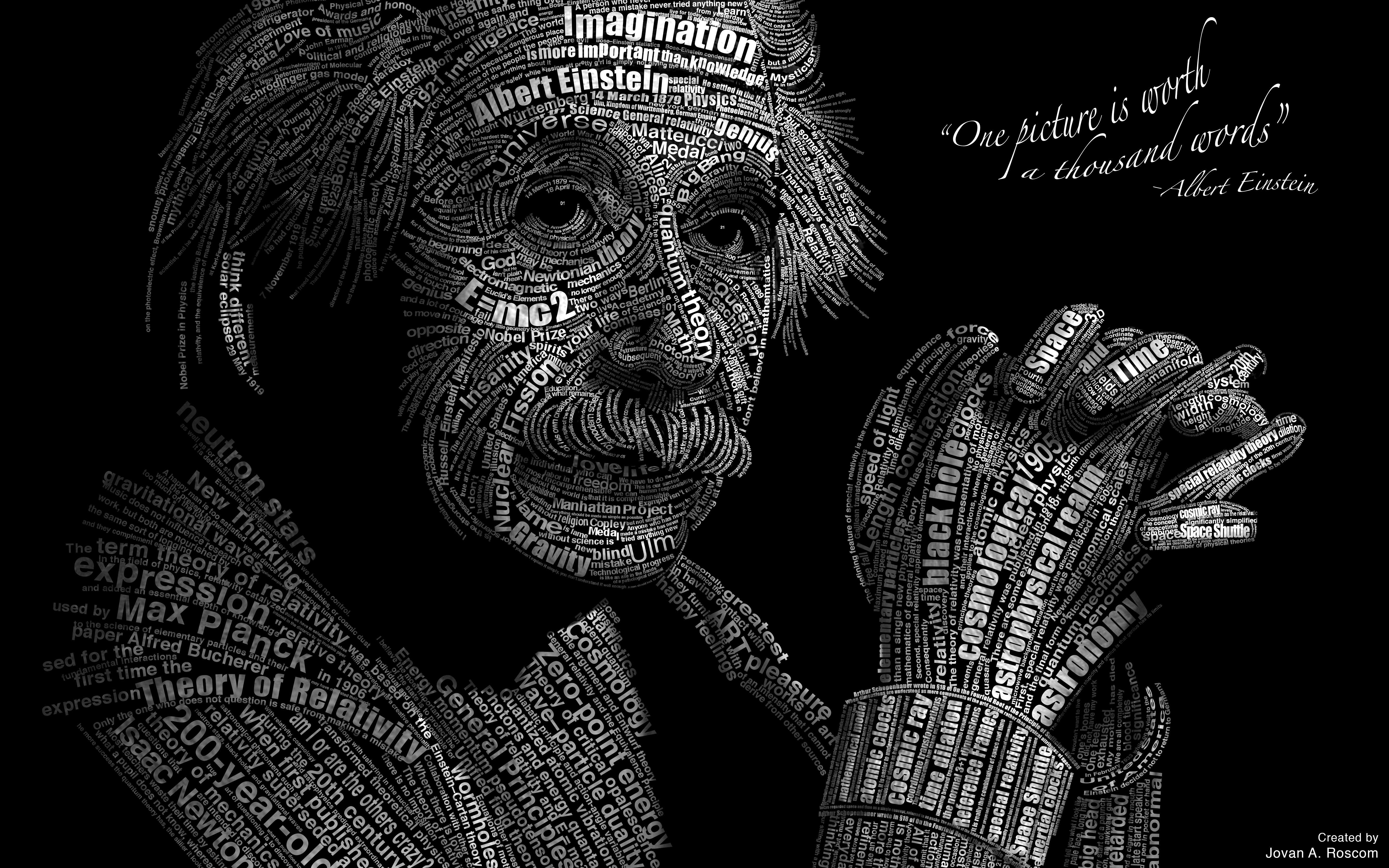 Albert Einstein 5k Retina Ultra Hd Wallpaper Background Image