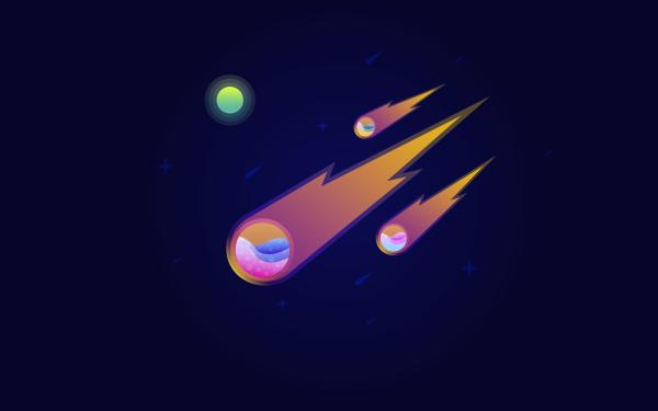 Sci Fi Meteor HD Wallpaper | Background Image