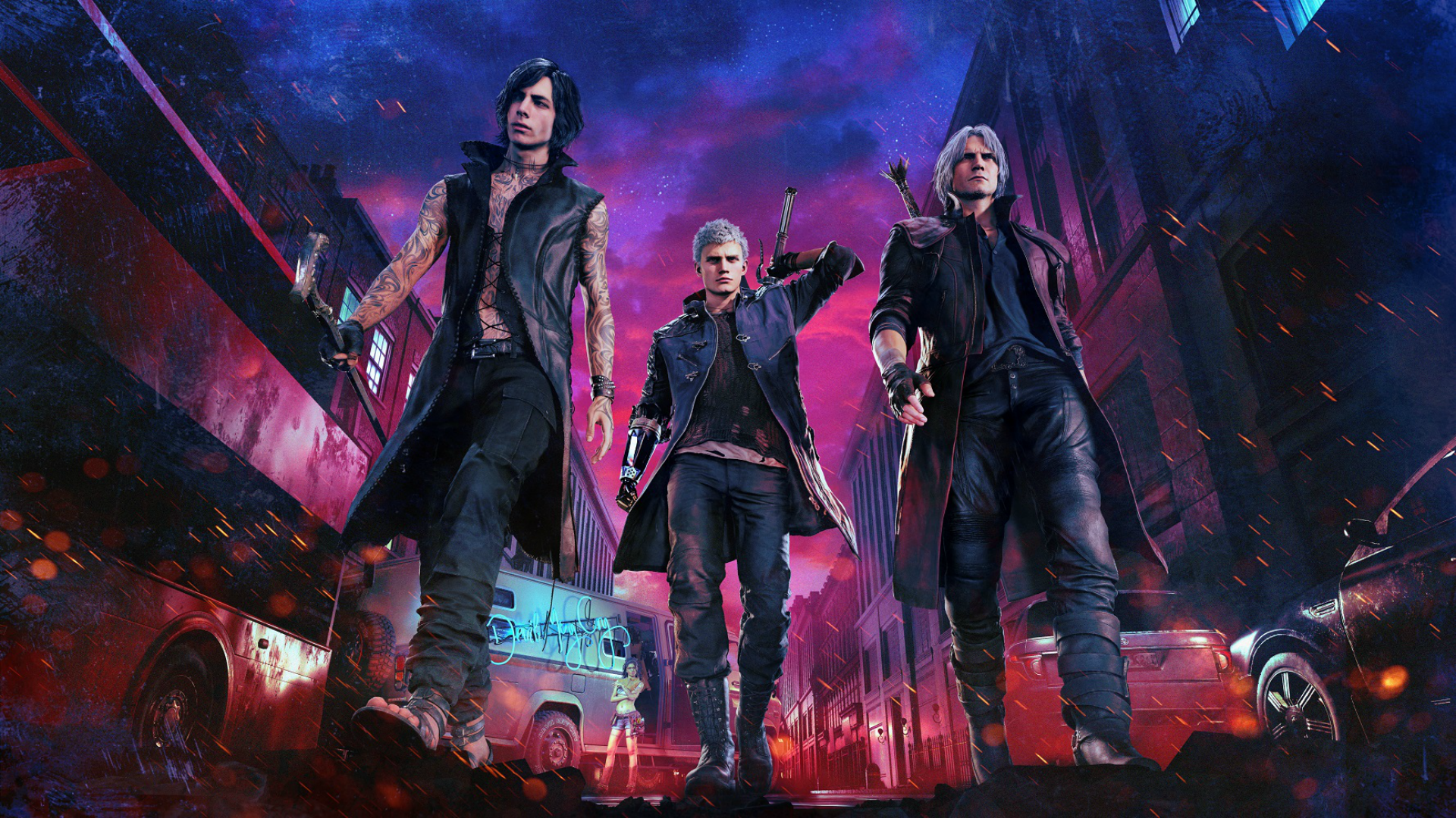 Devil May Cry 5 Deluxe Edition Key Art Hd Wallpaper Background