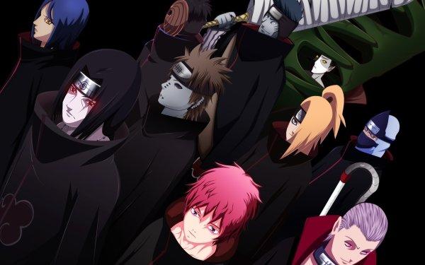 Anime Naruto Yahiko Pain Itachi Uchiha Obito Uchiha Black Zetsu White Zetsu Konan Kisame Hoshigaki Sasori Deidara Hidan Kakuzu Akatsuki Fondo de pantalla HD | Fondo de Escritorio