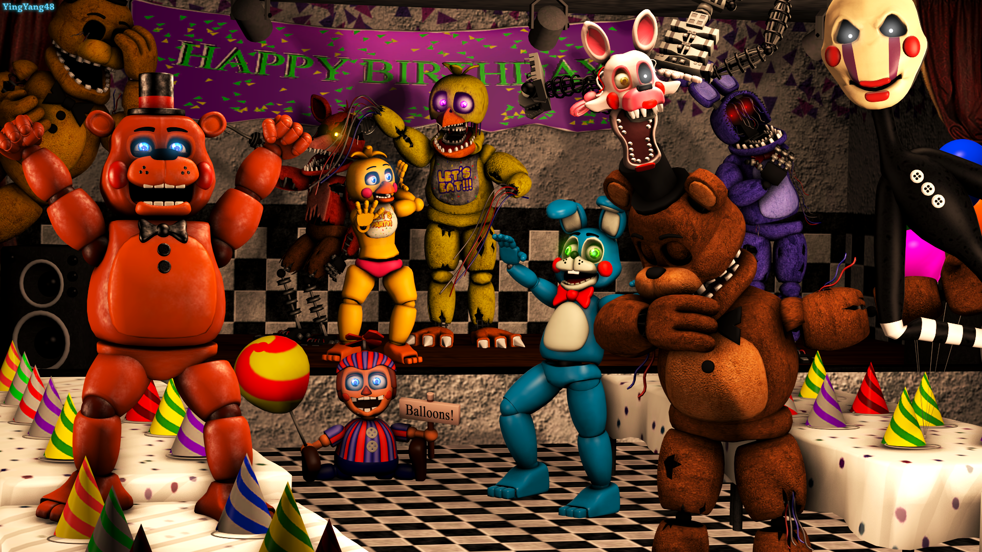 Five Nights At Freddy's 2 Fond d'écran HD | Arrière-Plan | 1920x1080 | ID:952803 - Wallpaper Abyss