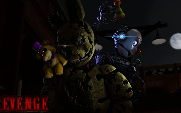 Video Game Five Nights at Freddy's Springtrap Ennard HD Wallpaper | Background Image