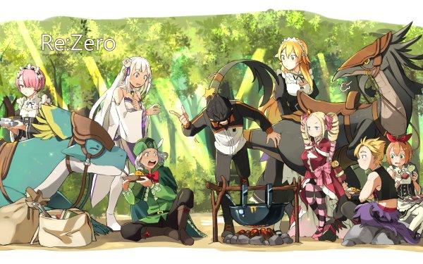 Anime Re:ZERO -Starting Life in Another World- Emilia Subaru Natsuki Beatrice Ram Frederica Baumann Garfiel Tinsel Otto Suwen Petra Leyte HD Wallpaper | Background Image