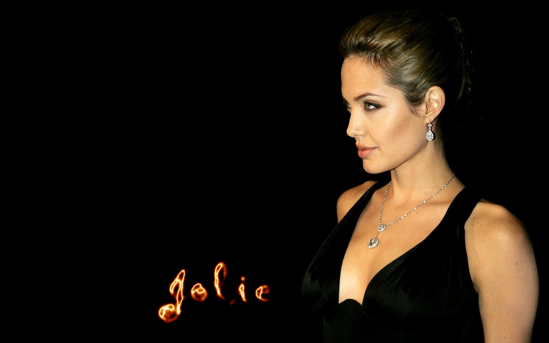 Angelina Jolie Hd Wallpapers: Fire On Her Name HD Wallpaper