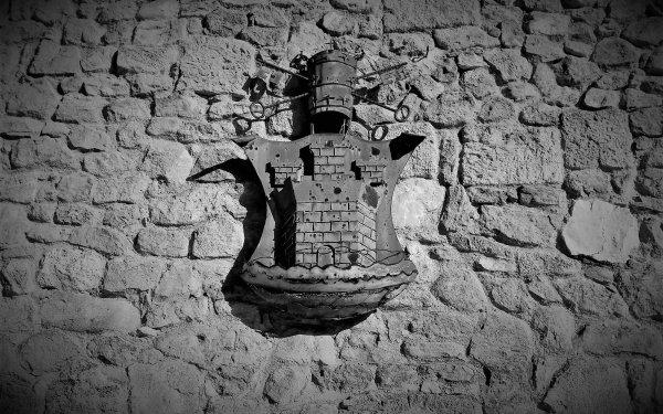 Photographie Shield Noir & Blanc Mur Fond d'écran HD | Image