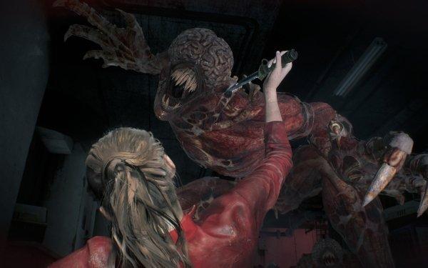 Video Game Resident Evil 2 (2019) Resident Evil Licker HD Wallpaper   Background Image