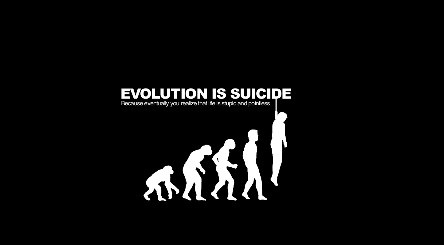 Image result for evolution is suicide