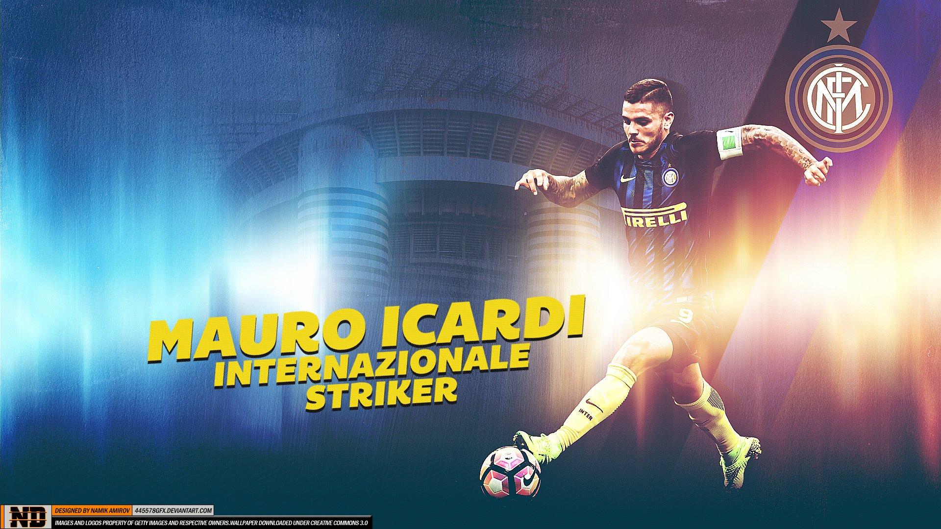 Mauro Icardi Inter Hd Wallpaper Sfondi 1920x1080 Id961919