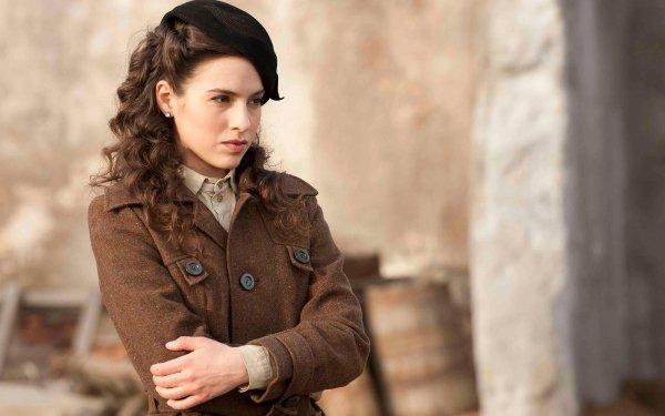 Movie Company Of Heroes Melia Kreiling Actress Brown Hair Hat HD Wallpaper   Background Image