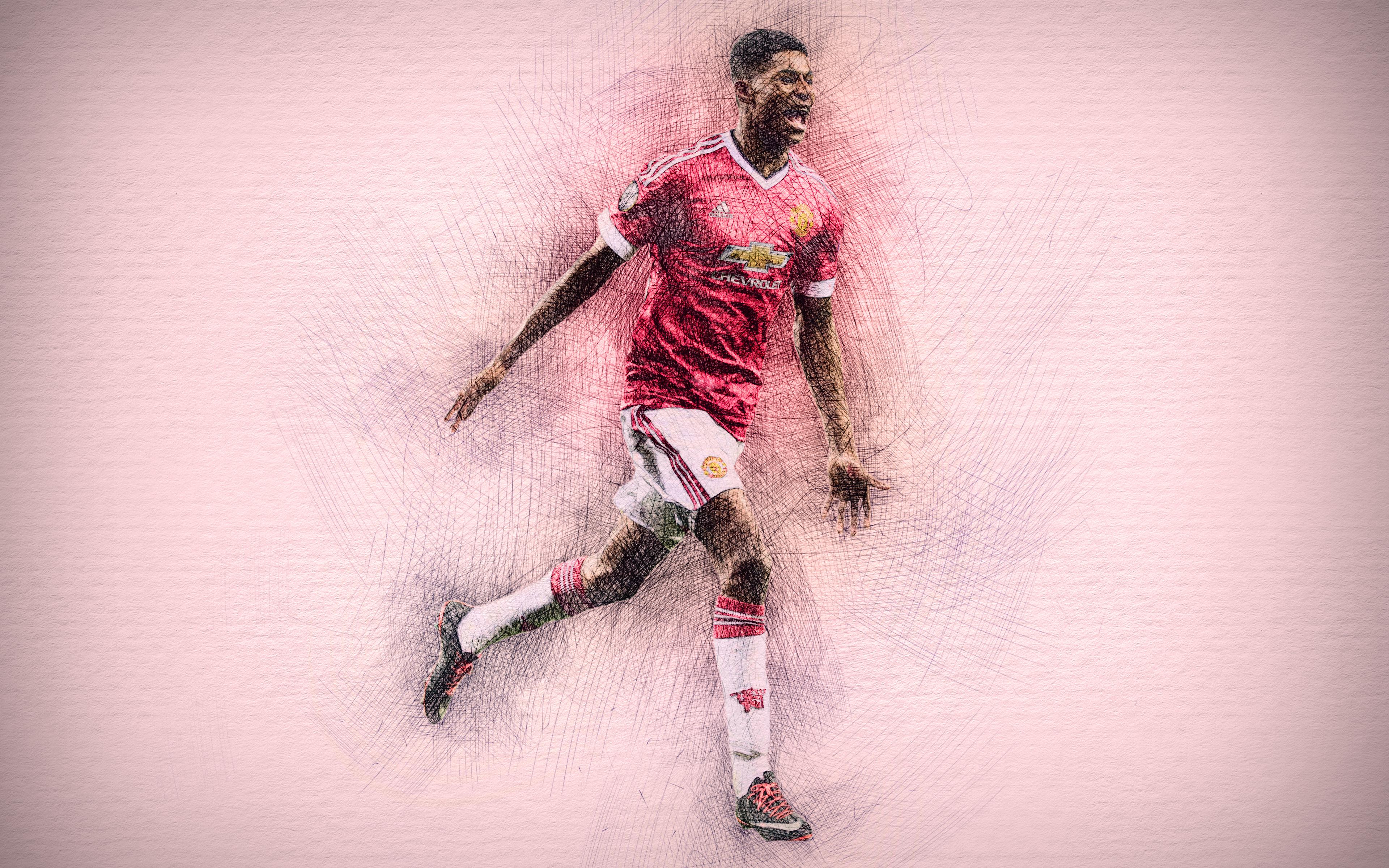Marcus Rashford Manchester United 4k Ultra Hd Wallpaper Background Image 3840x2400 Id 966936 Wallpaper Abyss