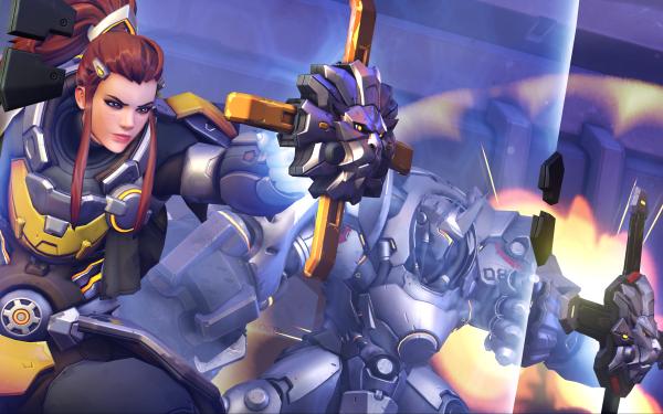 Video Game Overwatch Brigitte Reinhardt HD Wallpaper   Background Image