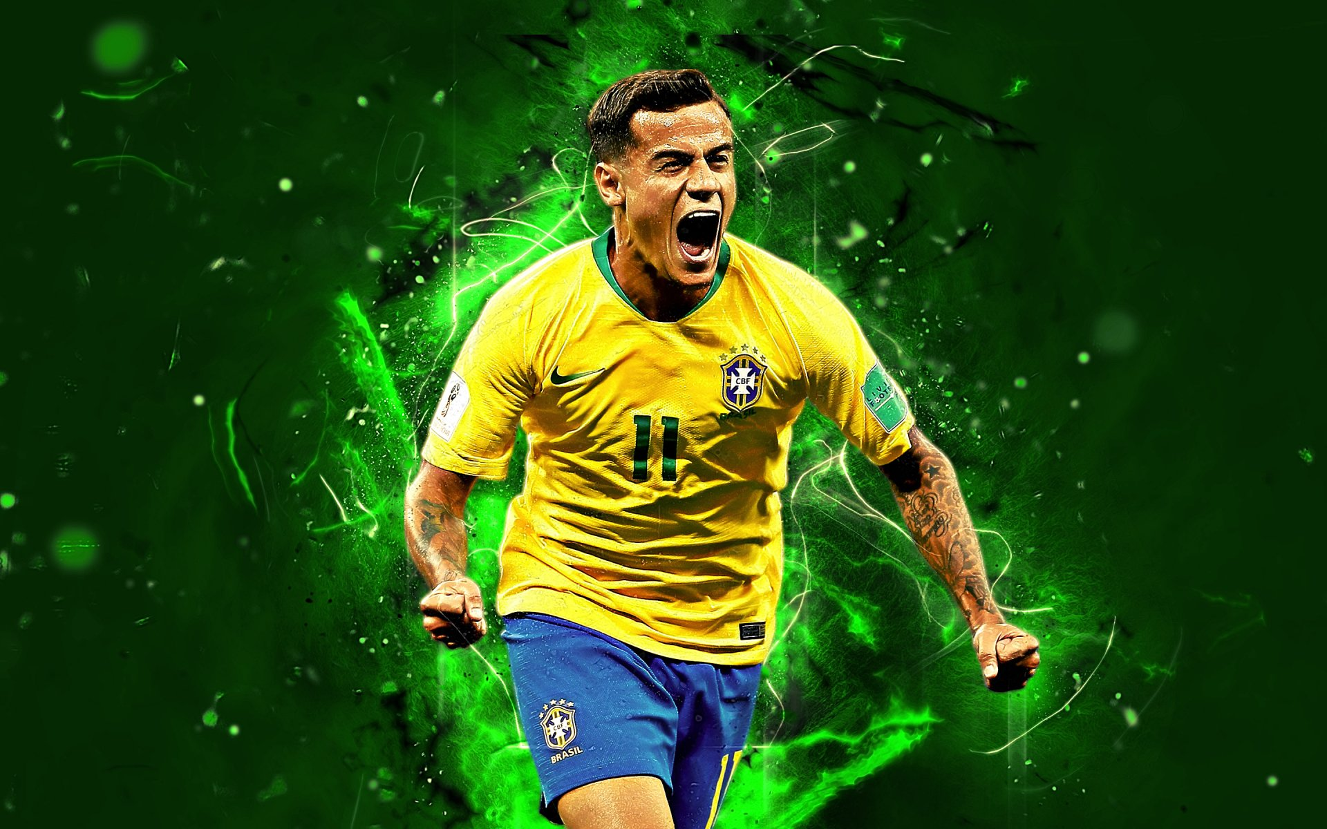 Philippe coutinho brasil hd wallpaper background image - Coutinho wallpaper hd ...