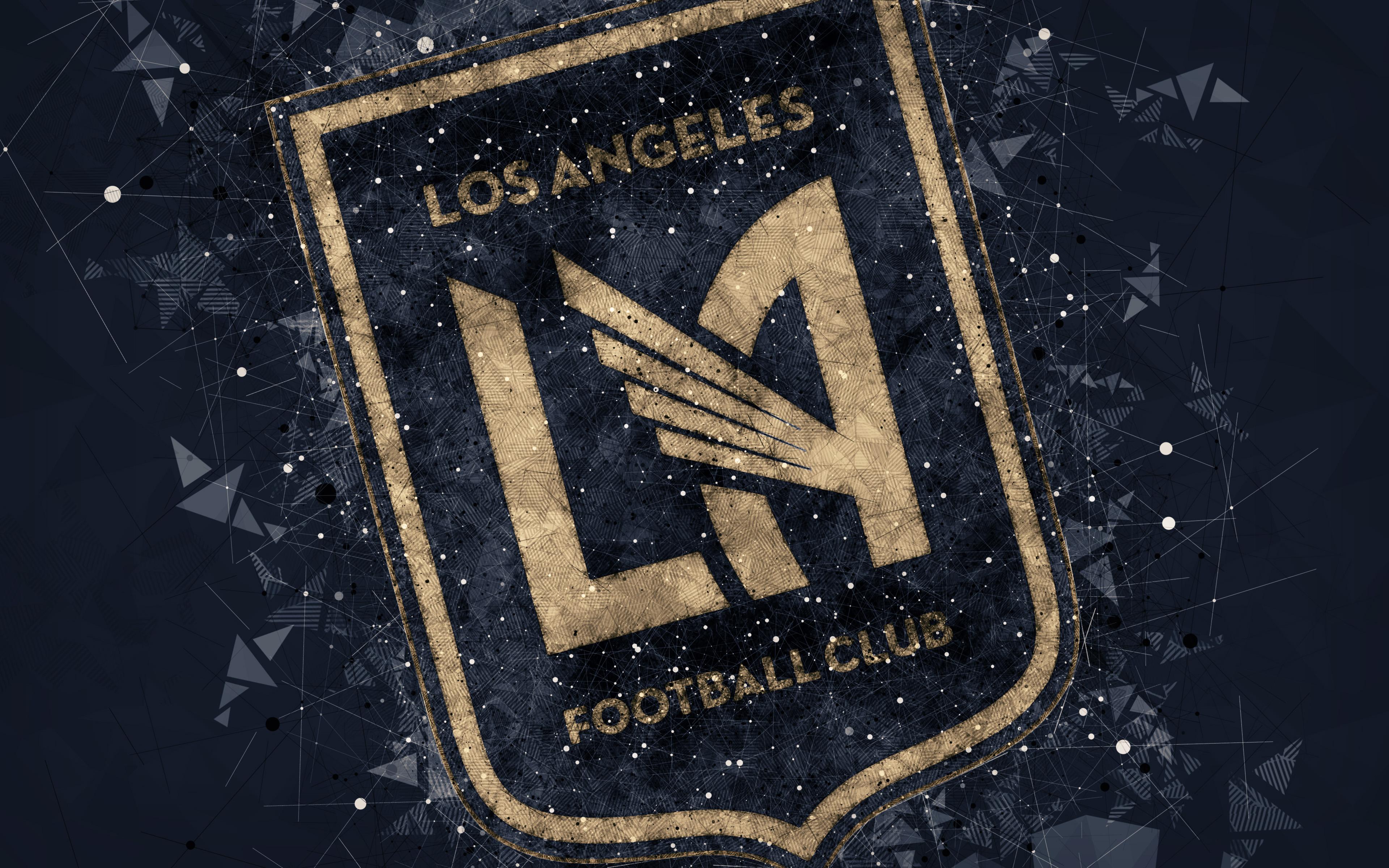 Los Angeles Football Club Logo 4k Ultra Hd Wallpaper