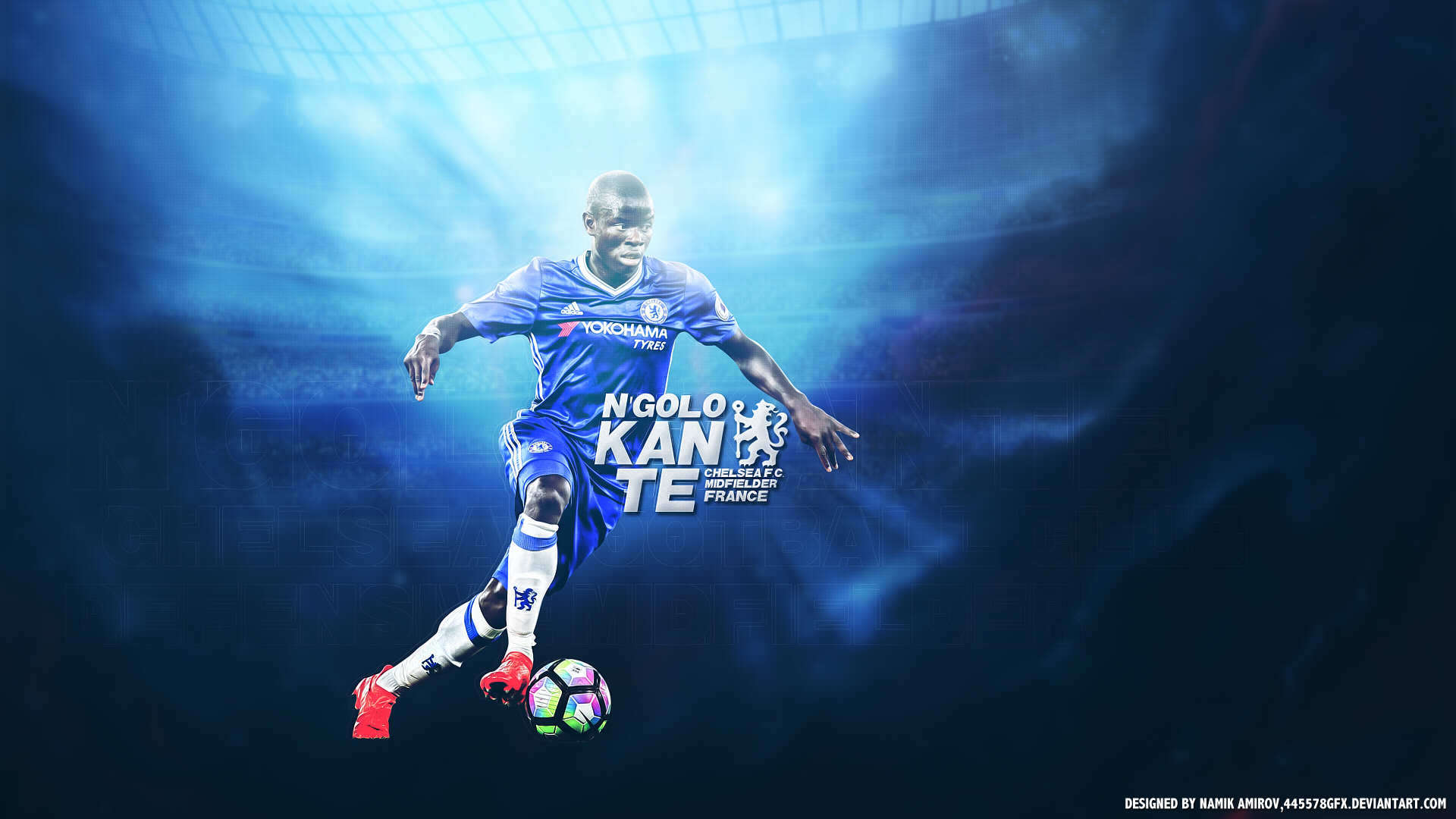 N Golo Kanté Chelsea HD Wallpaper