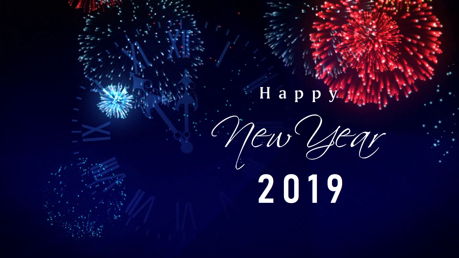 New Year 2019 HD Wallpaper  Background Image  1920x1080  ID