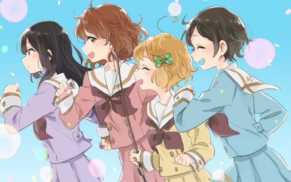 Anime Sound! Euphonium Kumiko Oumae Reina Kousaka Hazuki Katou HD Wallpaper | Background Image