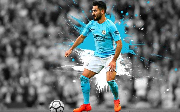 Sports İlkay Gündoğan Soccer Player German Manchester City F.C. HD Wallpaper | Background Image